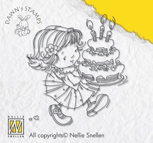 Clear stamps Dawn 003: Dawn with birthday cake stamp
