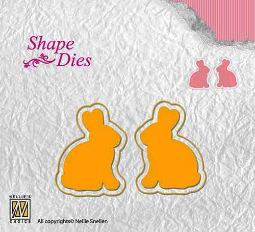 SD122 Shape die Easter 2 rabbits